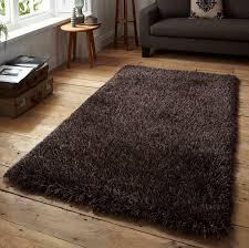 monte carlo black brown superior shaggy rug