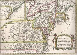 Blank Map Of The 13 Colonies by 1755 To 1759 Pennsylvania Maps
