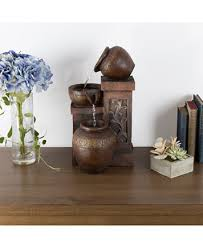 pure garden tiered vase led table fountain home decor for the