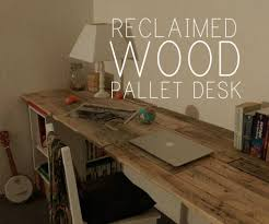 Homemade Gaming Desk by Reclaimed Wooden Pallet Desk Diy Pallet Ideas