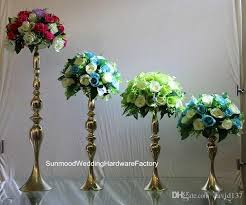 Where To Buy Vases For Wedding Centerpieces New Gold Iron Trumpet Vase For Wedding Centerpiece Mental Flower
