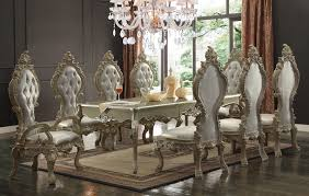 Gold Table L Design Hd 13012 Dining Table Set In Gold