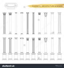design elements ancient columns stock vector illustration