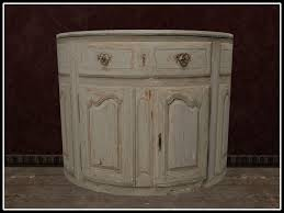 Antique Painted Sideboard Second Life Marketplace Re French Painted Half Round Buffet