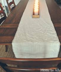 diy no sew burlap table runner home by ally