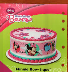 edible cake decorations 1 x minnie mouse designer prints edible cake image