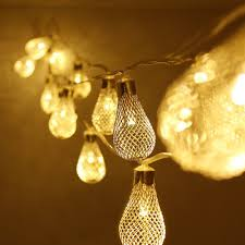 String Ball Lights by Metal Net Christmas Led String Lights Torchstar