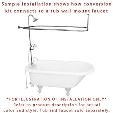 bath shower converter top 25 best tub to shower conversion clawfoot tub shower ceiling mount shower curtain rod clawfoot tub oil rubbed bronze clawfoot tub shower