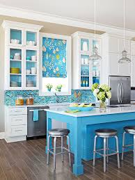 blue kitchen backsplash blue backsplash better homes gardens