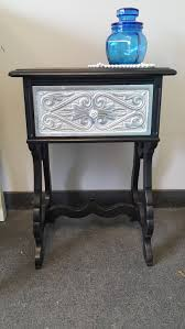 shabby chic writing desk vintage carved shabby chic black u0026 silver metallic table pick up
