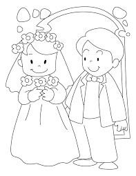 bride groom coloring pages wedding coloring pages