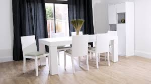 Modern White Oak Dining Set Seats   Chunky Table  Padded - Funky kitchen tables and chairs