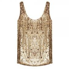 holkham pearl and gold sequin top polyvore