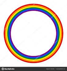 Rainbow Pride Flag Rainbow Pride Flag Lgbt Movement In Circle Shape U2014 Stock Vector
