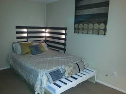 pallet beds headboards diy projects pallets queen bed from idolza