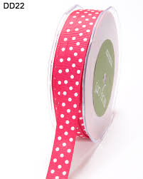 polka dot ribbon 5 8 inch grosgrain dots ribbon may arts wholesale ribbon