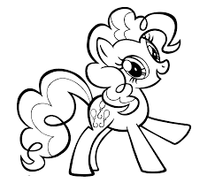 unique design pinkie pie coloring page free printable pages
