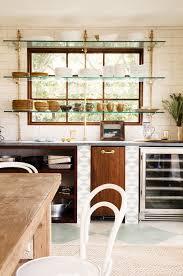 glass shelf between kitchen cabinets ideas for a great open shelf kitchen decoholic