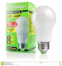 Led Light Bulbs Savings by Energy Savings Modern Led Lamp In Packing Box Stock Illustration