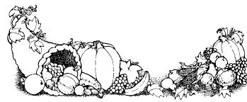 Thanksgiving Feast Clip Cornucopia Clipart Thanksgiving Feast Pencil And In Color