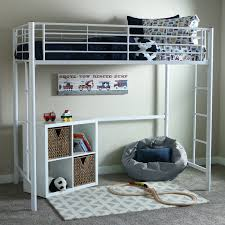 Duro Z Bunk Bed Loft With Desk Black Hayneedle - Twin loft bunk bed