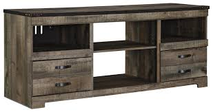 Tv Furniture Designs Rustic Large Tv Stand With Metal Rivet Detail By Signature Design
