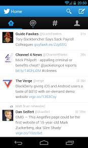 android twitter app updated with android twitter ics update 1