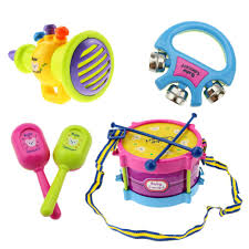 baby band 5pcs set baby drum set baby kids roll drum musical instruments