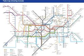 underground map map showing tunnels to help underground claustrophobia