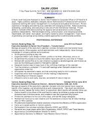 C Level Executive Resume Samples by Executive Assistant Resume Corpedo Com