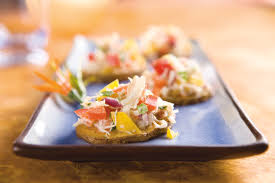 crab canapes idaho potato commission