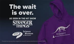 stranger things u0027 fans crash museum website to buy dinosaur hoodie