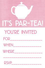 8 extraordinary printable tea party invitations free neabux com
