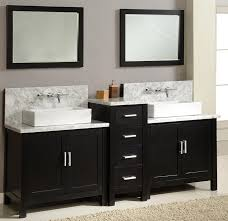 rustic double sink bathroom vanity floating mirror white marble