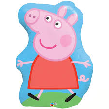 pig balloons peppa pig jumbo foil balloon birthdayexpress