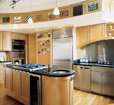 maple wood cool mint shaker door kitchen design ideas for small