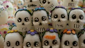 sugar skulls for sale rows of sugar skulls for sale on display for day of the dead in
