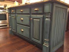 painted islands for kitchens kitchen island update chalk paint wax and glaze