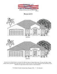 floor plans u0026 elevations american housing builders