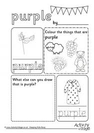 colour worksheets