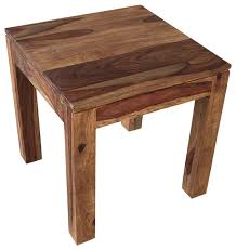 Side Accent Table Solid Sheesham Wood Accent Table Rustic Side Tables And End