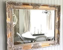 white gold mirror etsy