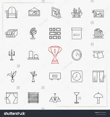 home decor line home decor line icons set stock vector 779603044