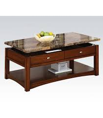 marble lift top coffee table 3 pc coffee table set faux marble lift top us furniture discount inc