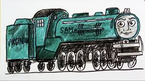draw locomotive sam thomas friends