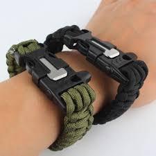 paracord bracelet whistle fire images Paracord outdoor survival bracelet whistle gear kits flint fire jpg
