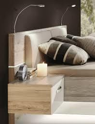 Bettbank Schlafzimmer Forte Bett Rondino Weiß Hochglanz Sandeiche Nachbildung Möbel
