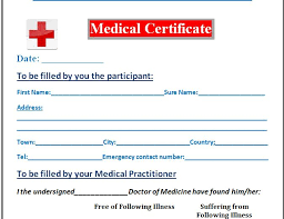 7 medical certificate templates excel pdf formats