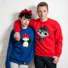 christmas hers his and hers novelty christmas jumpers focus festive knits