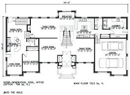 single story house plan one story house plans with mother in law suite house plans with